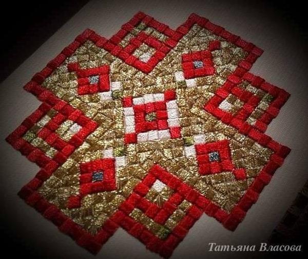 Фото. Закладка в Евангелие, машинная вышивка.  Автор работы - Anfia