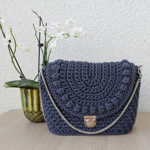Фото. Классическая сумочка из шнура. Автор работы - berlinka