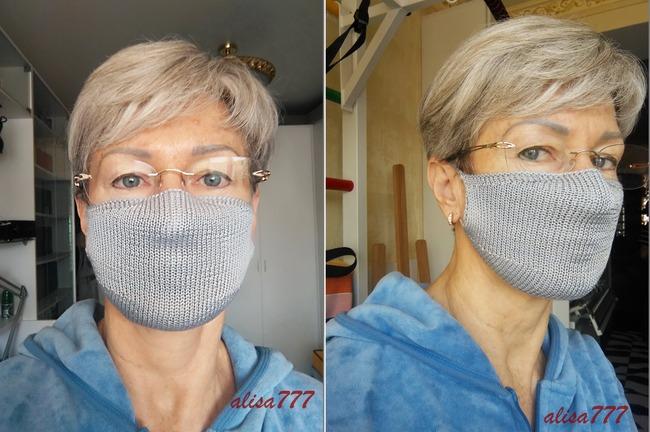 Фото. Что делать тем, кто не умеет шить? Связать маску. Описание в теме. Автор работы - alisa777