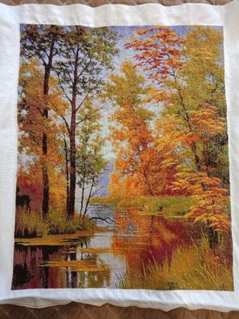 """Фото. Вышитая картина Леврон """"Октомври"""". Автор работы - lozhenka"""
