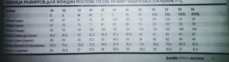Таблицы мерок (размеров) разных журналов - Burda, Диана и др