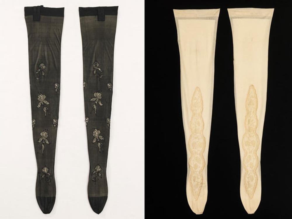 Фото. Дамские шелковые чулки, Франция, 1900-1910 гг.
