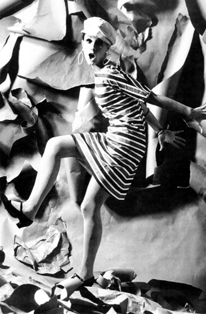 Фото. Бумажное платье Scott Paper, 1966 г.