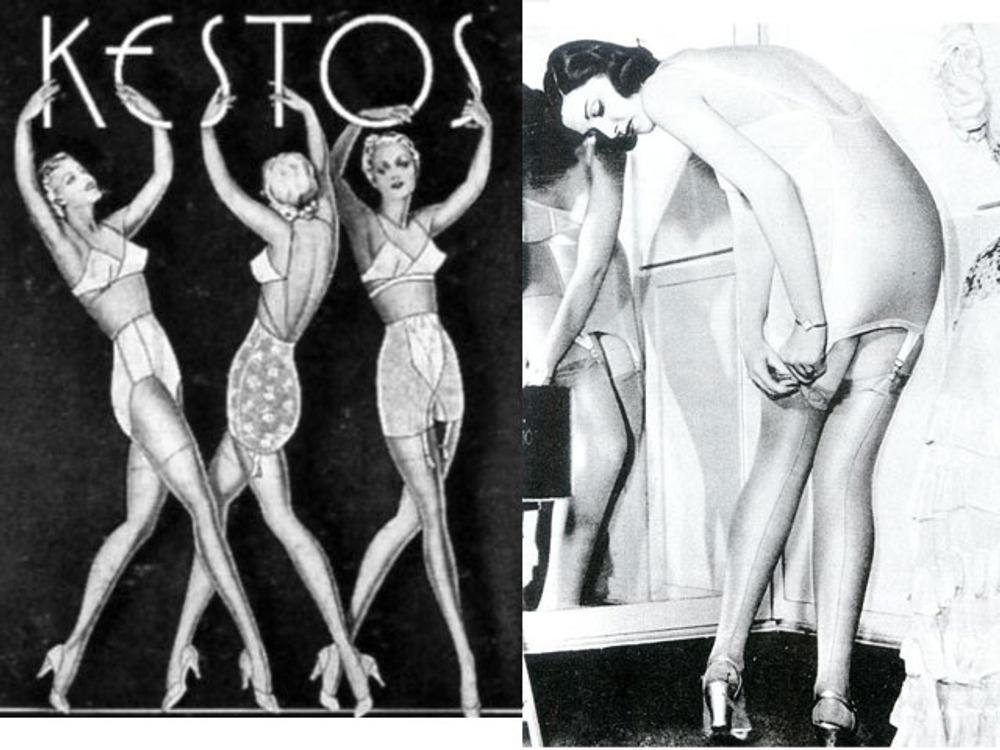Фото. Реклама нижнего белья марки KESTOS, 1930-е гг.