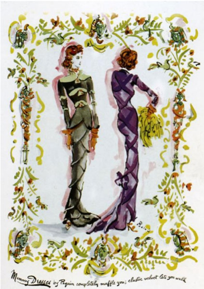 """Фото. """"Эластификация"""". Платья-""""мумии"""" Жанны Пакен (Jeanne Paquin), 1939 г."""
