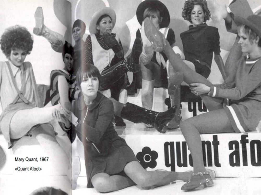 """Фото. Мари Куант, коллекция """"Quant Afoot"""", 1967 г."""