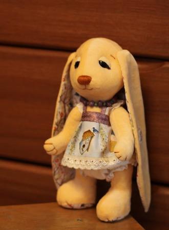 Фото. Заюшка - игрушка, любимая и детьми, и мастерицами. Автор работы - Танюшка-печенюшка
