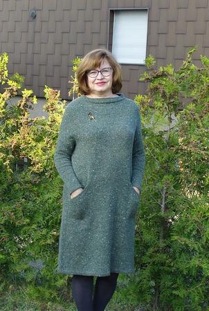 Фото. Платье из бобинного твида Knoll/Jordan.  Автор работы - Tata_E