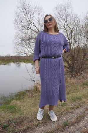 Фото. Платье оверсайз. Автор работы - мадам Ди
