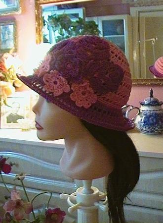Фото. Шляпка для девочки крючком. Автор работы - lidiy_