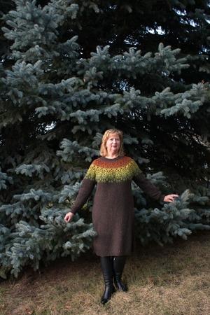 """Фото. Платье """"Боярышник""""  по описанию свитера Татьяны Чистяковой.   Автор работы - tatyana45"""