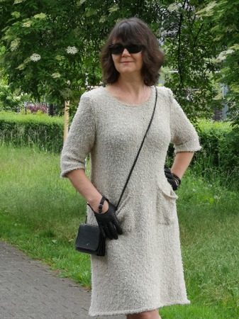 """Фото. Платье """"Трио"""" из трёх видов пряжи.   Автор работы - Virina1"""