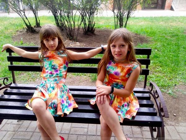 Фото. Летние наряды для дочек.  Автор работы - _ИнкаУкраинка_