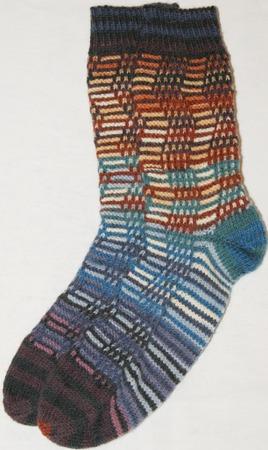 Фото. Цветные носочки. Автор работы - Platkoved