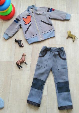 Фото. Весенний комплект (было: 2  брюк мужа и 1 рубашка). Автор работы - Rudili