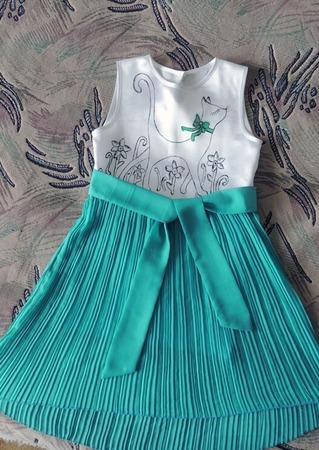 Фото. И наоборот - из длинной юбки в складку получилось нарядное платьице! Автор работы - Rina iris