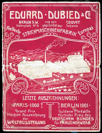 Фото. Реклама швейцарской фирмы Генри Эдуард Дубид.