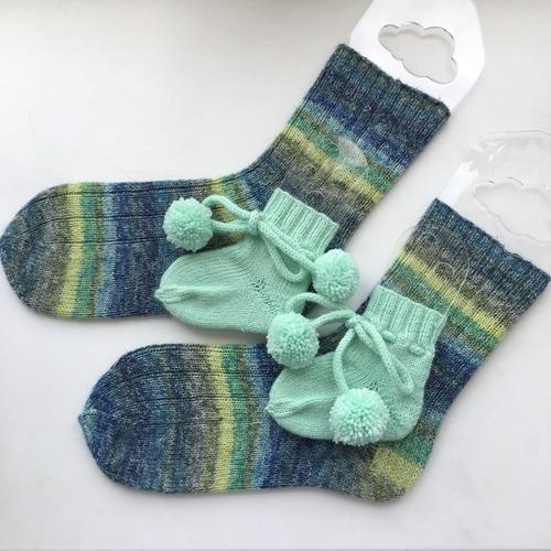 Фото. Время в период пандемии позволило мне попробовать себя в вязании носков! Я их 25 лет назад вязала на уроках в школе и все...