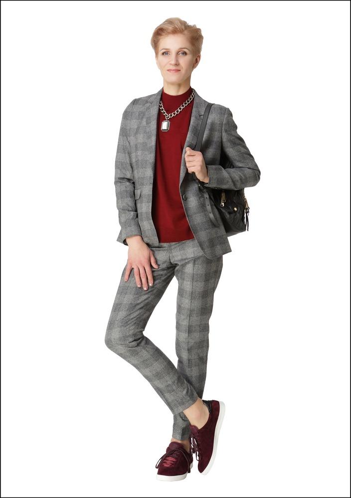 Комплект №4. Жакет, брюки, джемпер и кеды – Massimo Dutti (ТЦ Galerija Centrs)