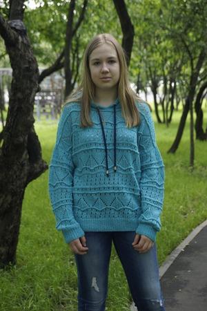 """Фото. Вязаное худи """"Lace hoodie"""". Автор работы - Светулькин"""