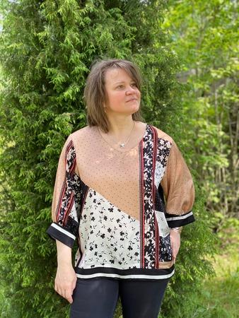 Фото. Платочная блуза.  Автор работы - MalTa