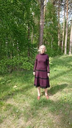Фото. Вязаное платье.   Автор работы - tnn1952