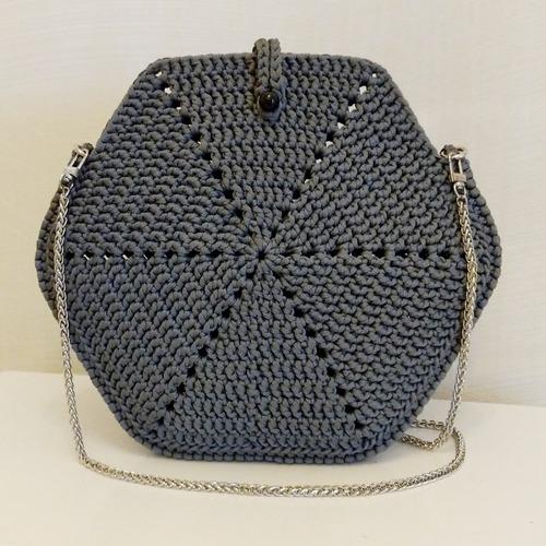 Фото. Сумка Hexagon, полиэфирный шнур 3 мм.  Автор работы - berlinka