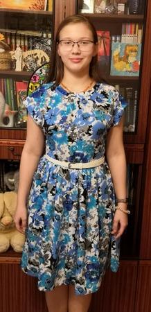 Фото. Платье внучке из вискозы. Автор работы - Марина З.