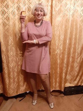 Фото. Розовое платье из замши.