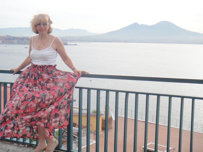Фото. Летний топ и юбка.