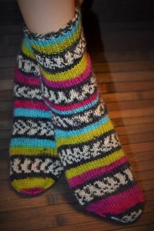 Фото. Носки для сына на случай летних холодов.  Автор работы - Веревочк@