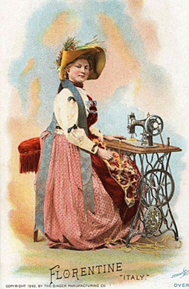 """Фото. Реклама фирмы """"Зингер"""" к Всемирной Выставке 1892 года. Флоренция."""
